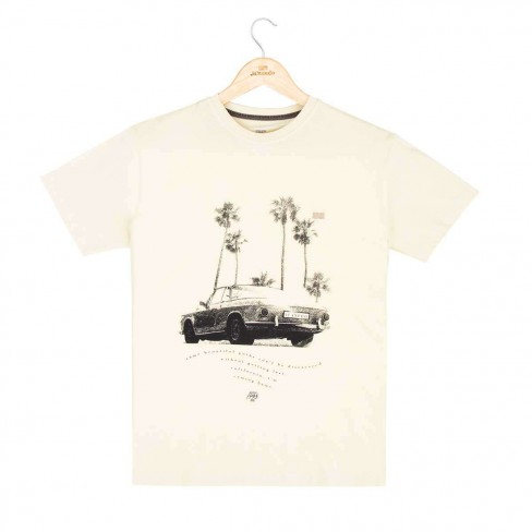 Camiseta Black Car - Verde caqui